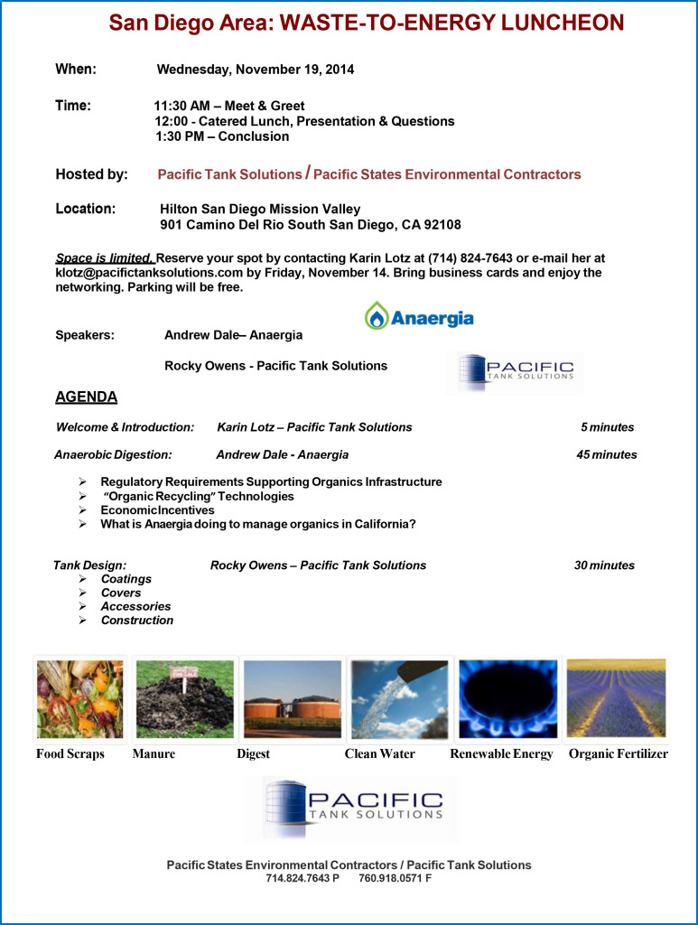 Anaerobic Digestion Luncheon Invitation - San D